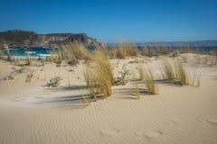 Simos海滩,埃拉福尼索斯岛,希腊 库存照片