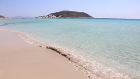 Simos beach Elafonisos Greece stock footage