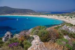 simos för strandelafonisosgreece ö Arkivfoto
