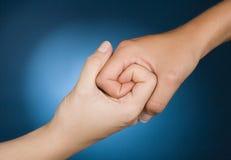 Simpatia da mostra das mãos Fotografia de Stock Royalty Free