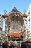 Simpecado, the pilgrimage of El Rocio in Seville, Andalusia, Spain Stock Images