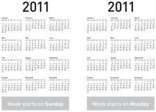 Simple 2011 Calendar Stock Photo
