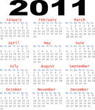 Simple 2011 Calender on white background Royalty Free Stock Image