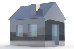 Simple 3D House Royalty Free Stock Photography