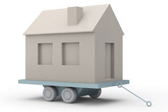 Simple 3D House transportation Stock Photography