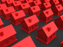 Simple 3d houses Royalty Free Stock Photo