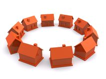 Simple 3d houses Royalty Free Stock Images