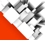 Simple abstract background with red triangle. Abstract background with geometric objects in vertical Stock Photography