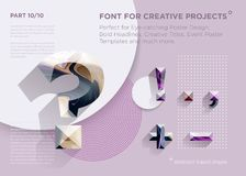 Free Simple Abstract Geometric Font. Perfect For Bold Headlines, Poster Designs, Creative Titles, Event Poster Template. Stock Photo - 153611300