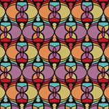 Netrivail abstract  floral geometric pattern, background, vector seamless. Simple abstract geometric pattern, vector seamless from abstract forms in blue and red Royalty Free Stock Photography