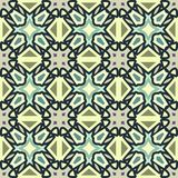 Blue and green abstract  geometric pattern, background, vector seamless Stock Photography