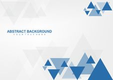 Simple Abstract Geometric Triangle Background. Simpl background made from triangle shapes Stock Photos