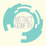 Simple abstract geometry figure for your text, logo. Vector abstract geometry element. Frame for your text Royalty Free Stock Photo