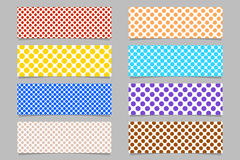 Simple abstract horizontal banner background set - graphic designs royalty free illustration