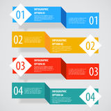 Simple abstract infographics options banner. Vector illustration for games ui, tablets, smart phones Royalty Free Stock Photo