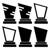 Simple, abstract, monochrome monument/graveyard stones set royalty free illustration
