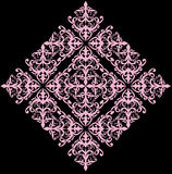 Simple abstract pink rhomb pattern Royalty Free Stock Image