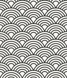 Simple abstract sea waves monochrome background - vector seamless Royalty Free Stock Photos