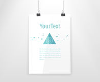 Simple Abstract Triangle Compostion on a Bright Template A4 Page Stock Photos