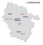 Simple administrative map Lorraine Stock Photo