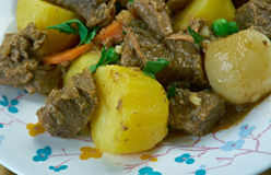 Simple African Beef Stew Royalty Free Stock Photos