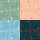 Simple Aircraft Pattern Stock Photos