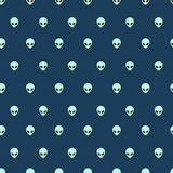 Simple alien head icon seamless pattern Royalty Free Stock Image