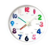 Simple analogue clock Royalty Free Stock Image
