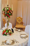 Simple And Elegant Table Setting For Events Royalty Free Stock Image