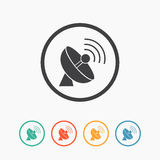 Simple antenna icon. Royalty Free Stock Photography