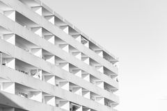 Functional architecture. Simple appartement block for different concepts Royalty Free Stock Photography