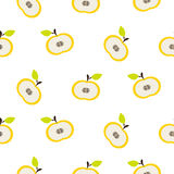 Simple apple fruit repeating pattern. Royalty Free Stock Photos