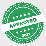 Simple approved logo - 2021 vector illustration