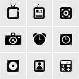 Apps icon set. Simple apps icon set. black. vector eps8 Royalty Free Stock Photos