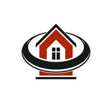 Simple architectural construction,  house abstract symbol, Royalty Free Stock Image