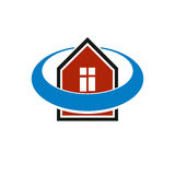 Simple architectural construction, vector house abstract symbol Stock Photo
