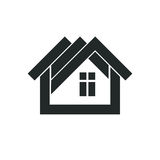 Simple architectural construction, vector house abstract symbol, Stock Photo