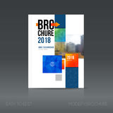 Simple architecture brochure style. Building Flyer promotion. Royalty Free Stock Photos