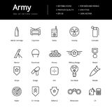 Simple Army Lline Icons. Simple army line icon. Icons for military or specials team Stock Photo