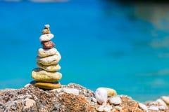 Simple art on the beach Stock Photos