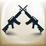 Simple Assault rifle Royalty Free Stock Photo