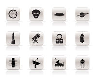 Simple Astronautics and Space Icons Stock Photo