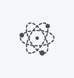 Simple atom icon on white background. Simple atom icon. eps8. On layers stock illustration