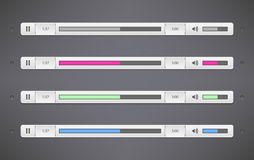 Simple Audio Player Bar Stock Image