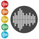 Simple Audio wave icon. Audio wave icon, simple vector icons set vector illustration