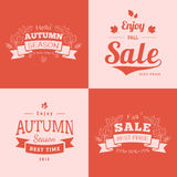 Simple autumn backdrops with sale text. Stock Photography