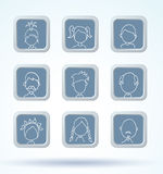 Simple avatar icons set, . Stock Photography