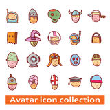 Simple avatar icons set, vector. Stock Images