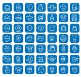 Simple avatar icons set, vector. Stock Photo