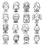 Simple avatar icons set, vector. Stock Photography